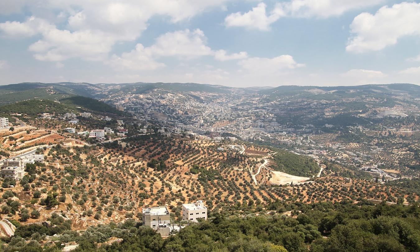 uitzicht vanaf kasteel Ajloun