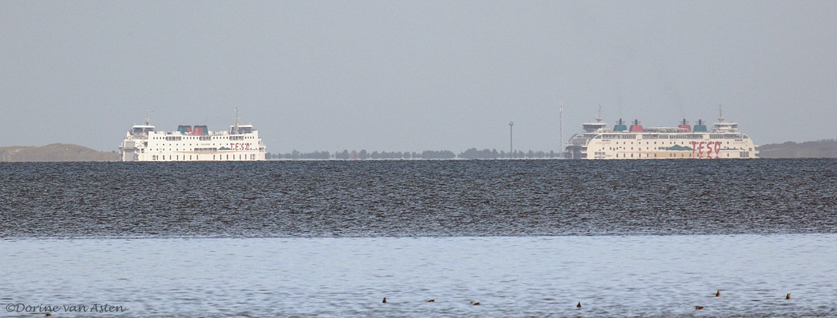 Veerboot Den Helder - Texel, afstand ong. 13 km.